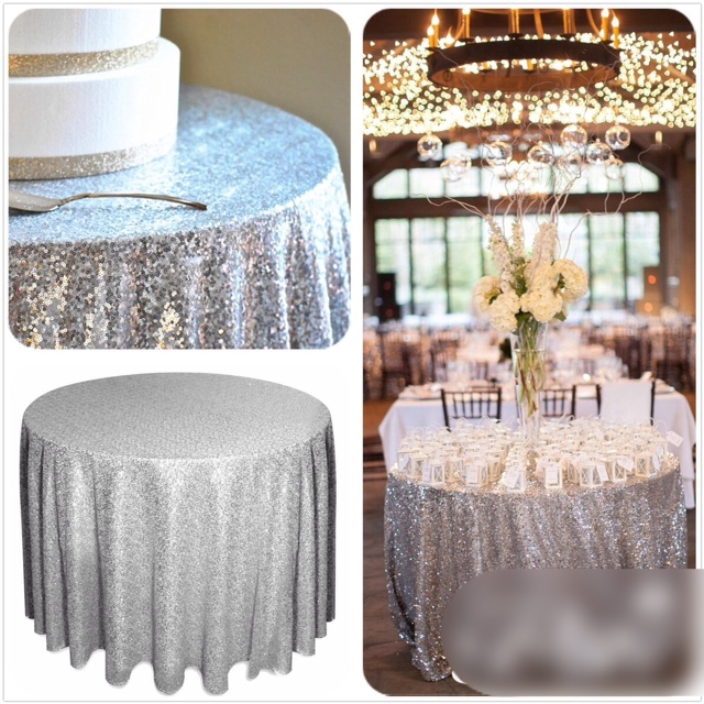4 seater round sparkly silver sequin table cloth helen g for 10 seater table cloth